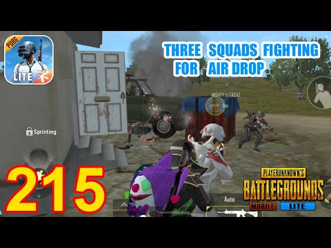 Three Squads Fighting For Air Drop   PUBG Mobile Lite Epic Gameplay