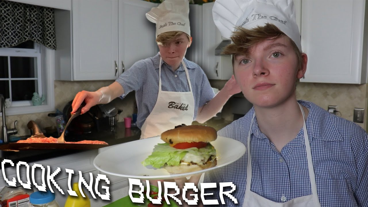 how to make HOMEMADE BURGERS (at night 😌)