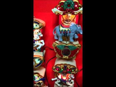 Mr Christmas Holiday Musical Carousel Circus Animals