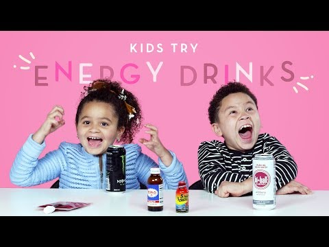 Kids Try Energy Drinks | Kids Try | HiHo Kids