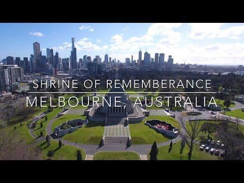 Our World by Drone in 4K - Shrine of Remembrance, Melbourne, Australia
