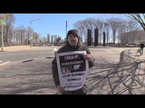 Vigil to Protest US intervention in Ukraine 3-5-2017