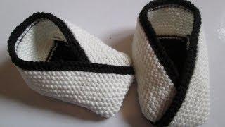 apprendre a tricoter des chaussons adultes