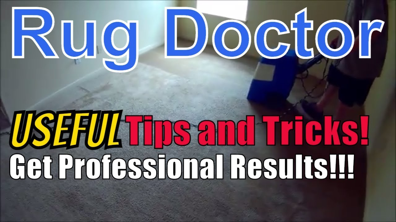 Watch This Before You Buy Or Rent A Rug Doctor!