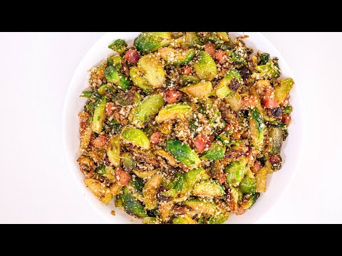 How To Make Crispy Bacon Brussels Sprouts By Amanda Freitag
