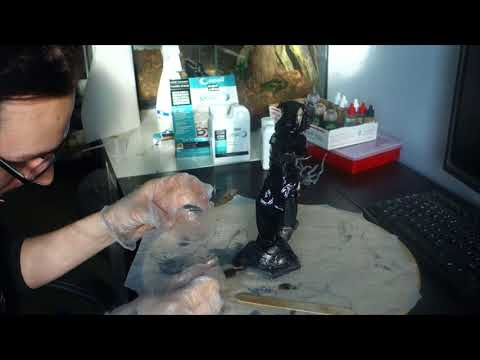 Making Overwatch: Reaper sculpture - part 11 - Epoxy resin coating + finished pictures