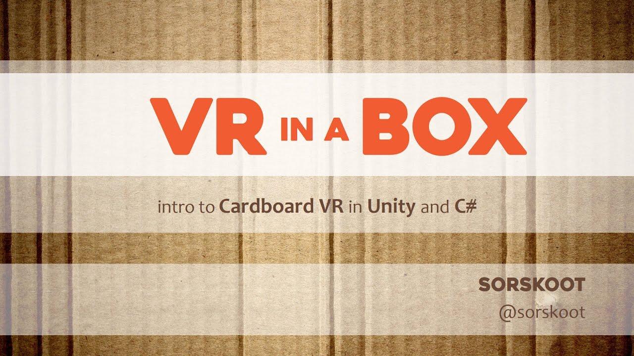 decdb8ded8e2 Tutorial on building a Google Cardboard app in Unity3D - YouTube