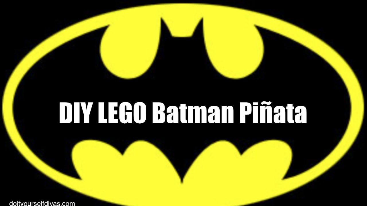 Diy Lego Batman Pinata Youtube