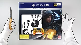 "PS4 Pro ""DEATH STRANDING"" Console Unboxing - PlayStation 4 Limited Edition + Gameplay"