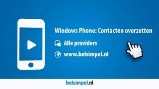 Tips & Tricks - Windows Phone: Contacten overzetten