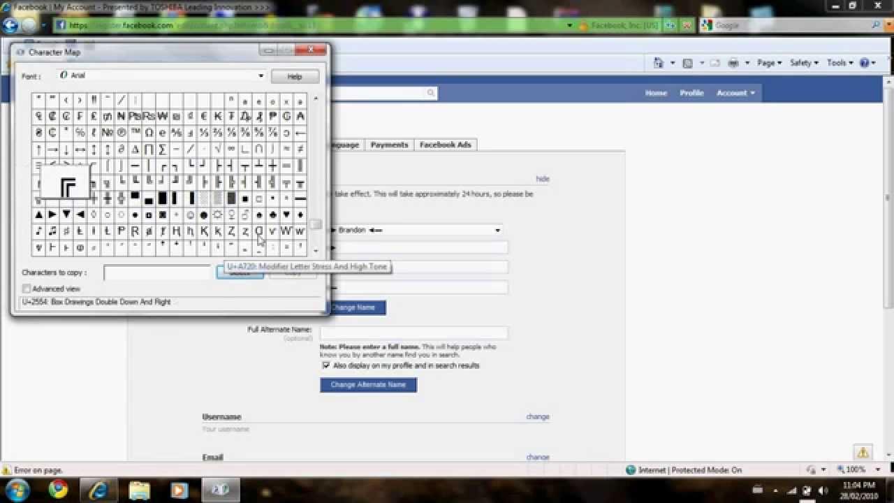 How To Add Cool Symbols To Your Name On Facebook By Comantra4