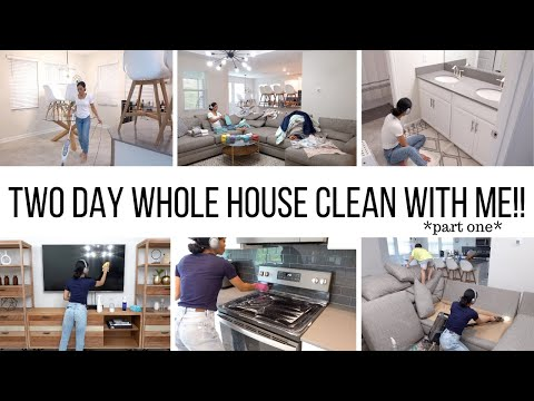 I'M BACK!!! TWO DAY WHOLE HOUSE CLEAN WITH ME // CLEANING MOTIVATION // Jessica Tull cleaning
