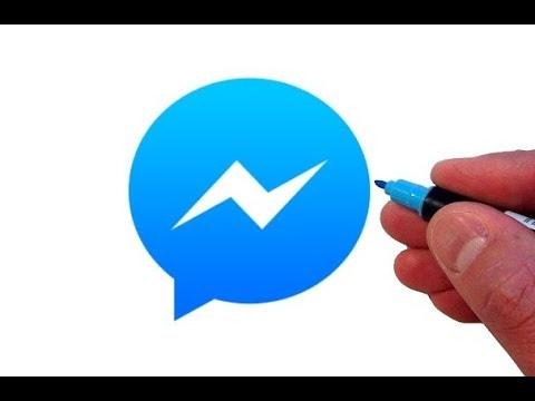 How to Draw the Facebook Messenger App Logo