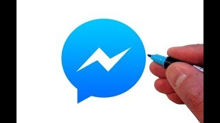 How to Draw the Facebook Messenger App Logo