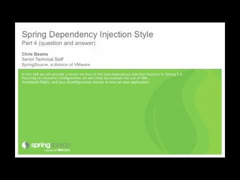Spring Dependency Injection Style (Question & Answer Part 2)