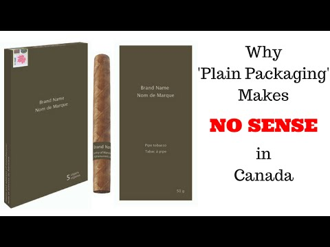 The ABSURDITY Of 'Plain Packaging' Cigars & Pipe Tobacco In Canada