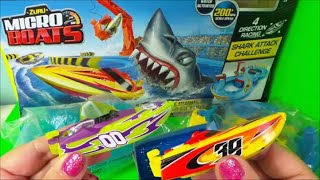 Zuru Micro Boats Racing Track Playset Toy for Kids Shark Attack Water Toys Unboxing and Full Review
