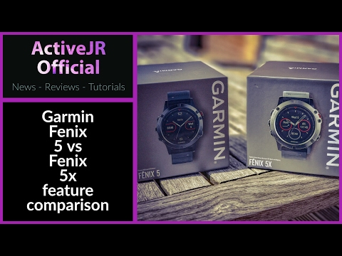 Garmin Fenix 5x Vs Fenix 5 Feature Review // Maps / Battery / Design / Which Watch Is Best For You?