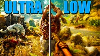 Far Cry Primal ULTRA Vs. LOW Settings 1080p Gameplay