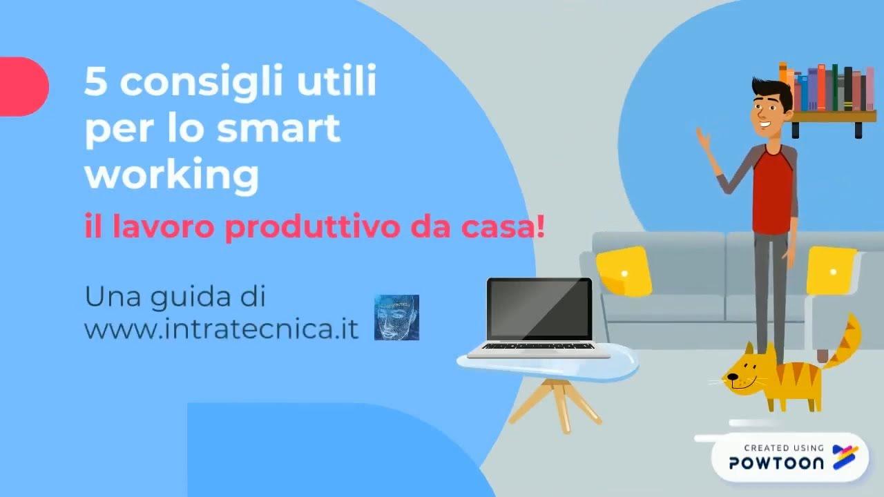 Consigli Per La Casa smart working: 5 consigli per lavorare da casa, con la tecnologia e  internet senza problemi.