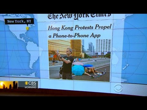 Headlines at 8:30: Pro-democracy protests in Hong Kong gives boost to FireChat app