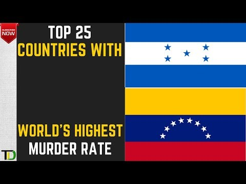 Top 25 Countries with the Highest Murder Rates in the World