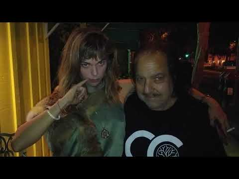 Ron Jeremy and Ashley McCarthy continued outside Dan Tana's.