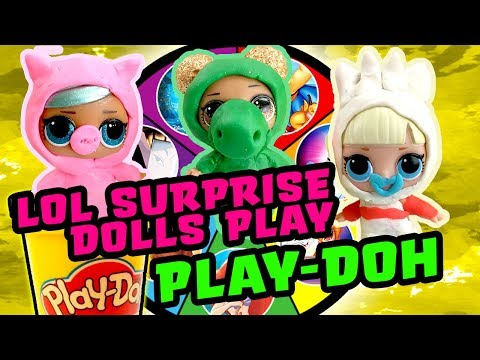 LOL Surprise Dolls Toy Story 4 Spin the Wheel Play-Doh Game Pt 2 w/ Brrr Baby!   LOL Dolls Families