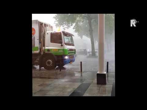 Rioolwater spuit uit toiletten. Video: Hypotheekshop Vlaardingen