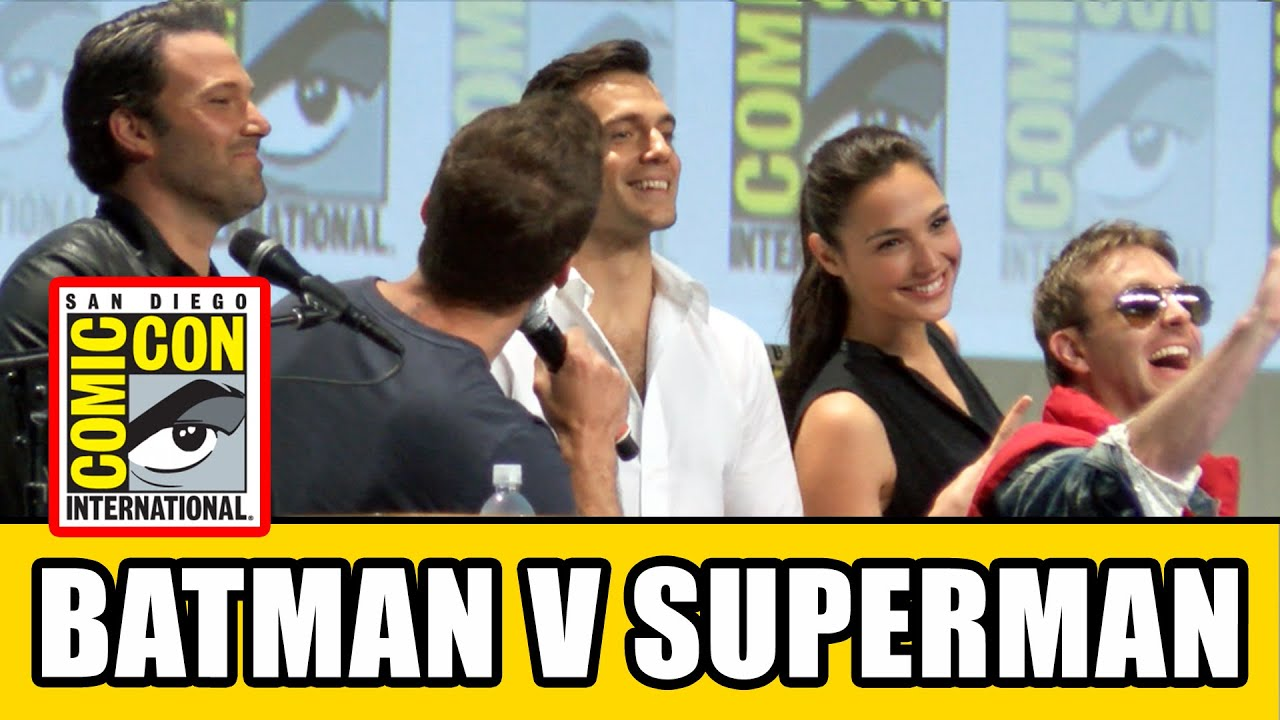 Henry Cavill And Ben Affleck Comic Con