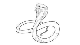 How to Draw a Cobra / Как нарисовать Кобру