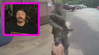 guy almost TAKES COP'S HEAD OFF with hidden machete - police shooting breakdown