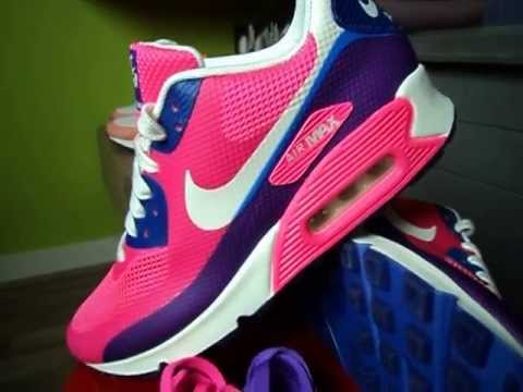 Nike Air Max 90 Hyperfuse Rose Coucher Du Soleil Violet