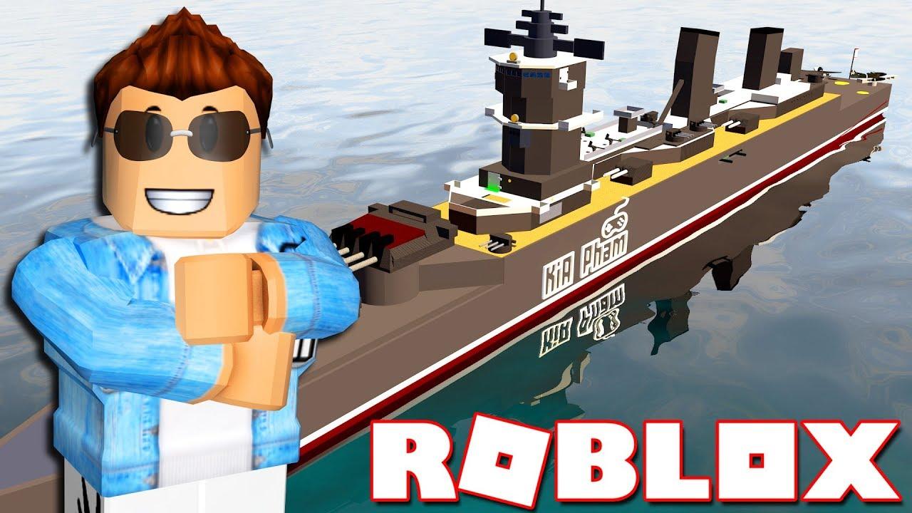 Roblox | BỎ TIỀN XÂY DỰNG CHIẾN HẠM SIÊU KHỦNG – Battleship Tycoon | KiA Phạm
