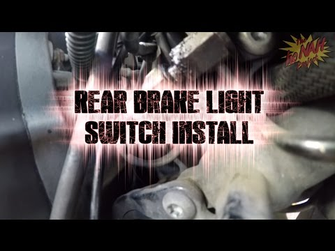 How To: Replace Rear Brake Light Switch