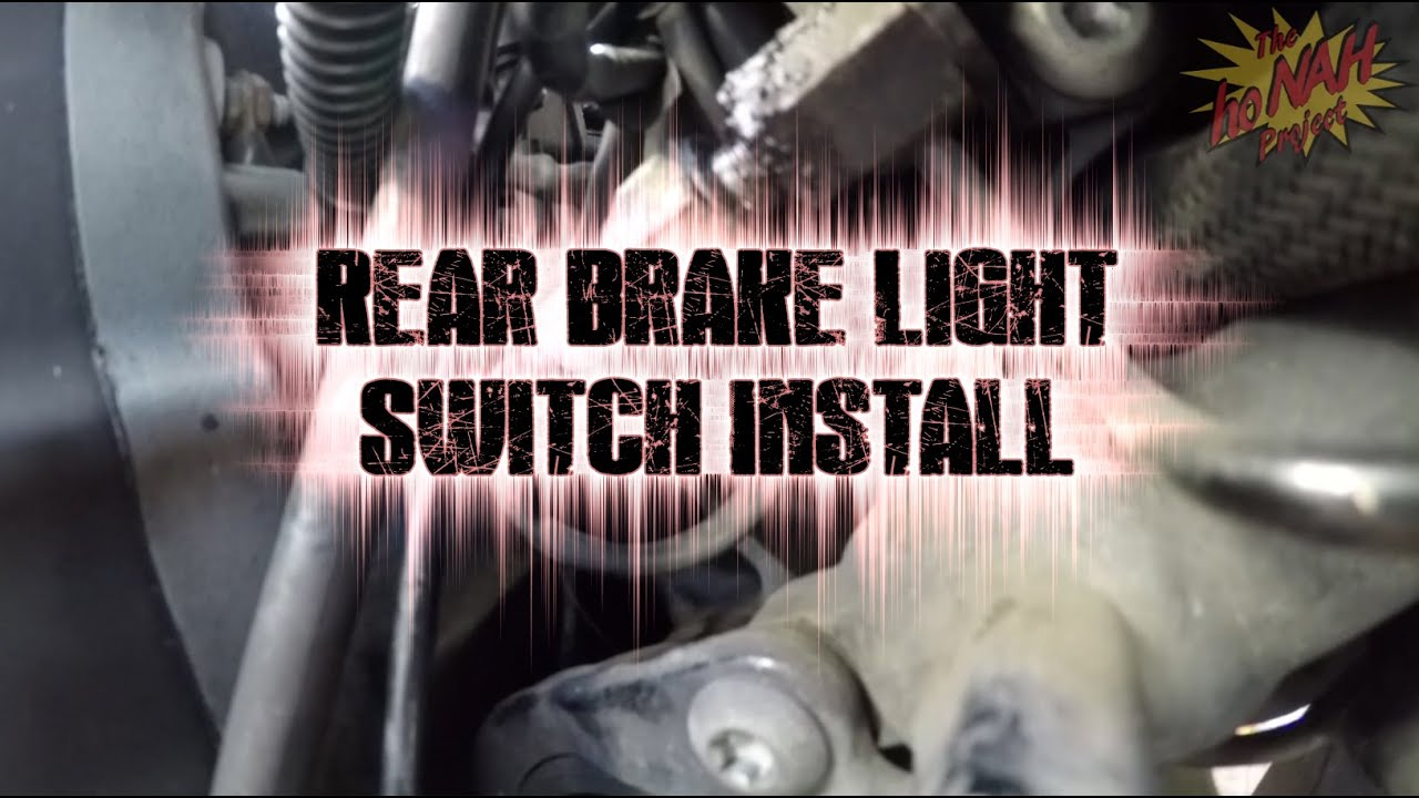 how to  replace rear brake light switch