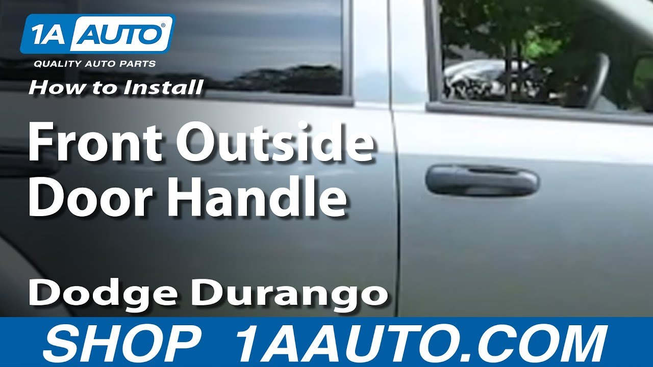 How To Install Replace Front Outside Door Handle Dodge Durango 04-09 ...