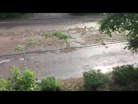 Последствия грозы в Белебее 17.07.2016