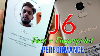 Samsung Galaxy j6 infinity face Unlock and Fingerprint performance in Hindi