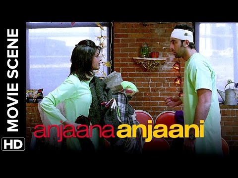 A suicidal attempt | Anjaana Anjaani | Movie Scenes