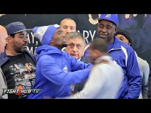 Terence Crawford vs. Hank Lundy Complete Face Off Scuffle & Final Press Conference Video