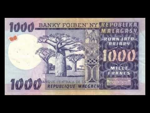 All Malagasy Ariary Banknotes - Banque Centrale de Madagascar - 1974 to 1974 in HD