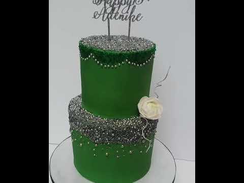 Emerald Green Sparkling Cake Youtube