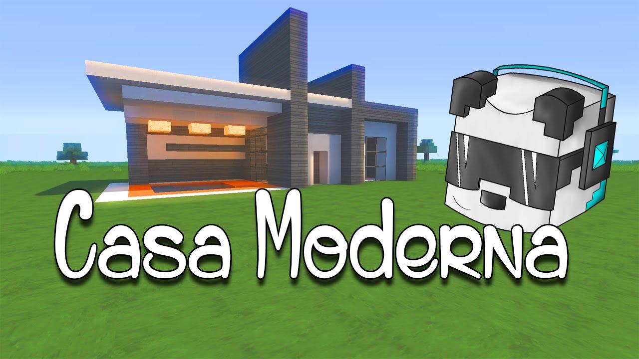 Como hacer una linda casa moderna en minecraft youtube for Como aser una casa moderna y grande en minecraft