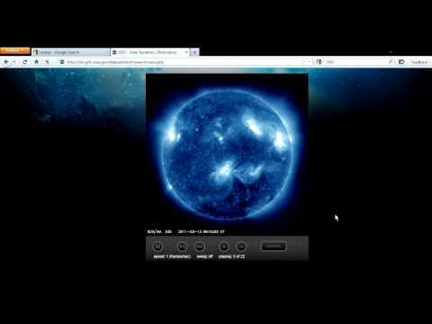 sdo sun nasa blackout in ( blue )