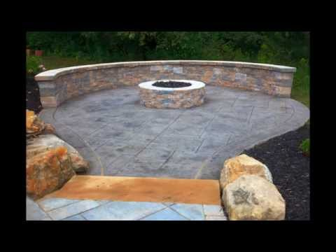 Creative Stamped concrete patio design
