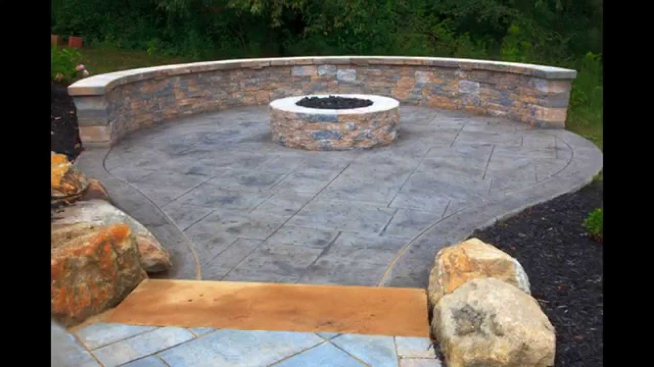 Creative Stamped concrete patio design - YouTube on Backyard Concrete Patio Designs  id=75726
