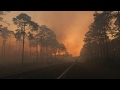 Wildfire rages along Florida-Georgia line