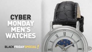 Cyber Monday Richelieu Часы: Швейцарские Кварцевые из Латуни и Кожи, Цвет: Черный. Репитер какой Купить