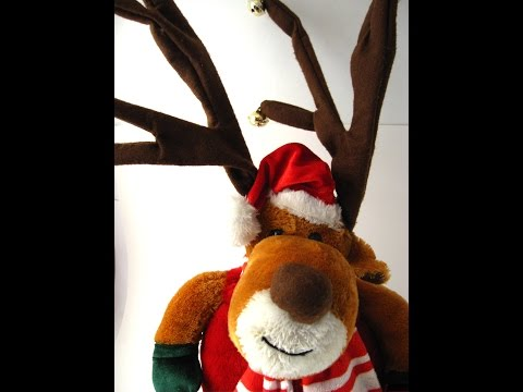 DanDee Collectibles Dancing Singing Reindeer Christmas Stuffed Toy Dancing in a Winter Wonderland
